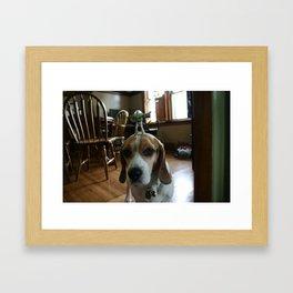 Bruno and Mini Buzz Lightyear Framed Art Print