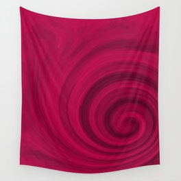 Red abstract pattern Wall Tapestry