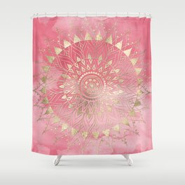 Modern Gold Mandala Shower Curtain