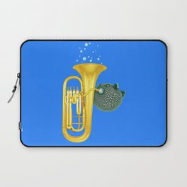 Puffer Fish Playing Tuba Laptop Sleeve