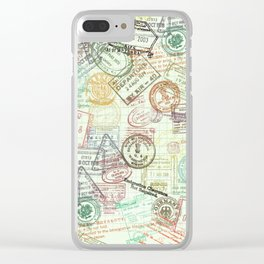 Passport Stamps Clear iPhone Case