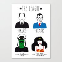 league Canvas Prints featuring THE LEAGUE by kravic