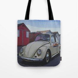 Southend on Sea Beach Huts Homage Tote Bag