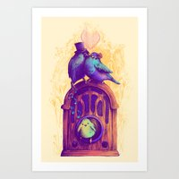 LISTEN TO THE SONG Art Print