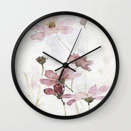 FLOWERS PAINTING-VINTAGE Wall Clock