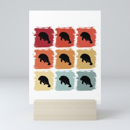 Retro Pop Art Dugong Manatee Sea Cow Gift Idea Mini Art Print