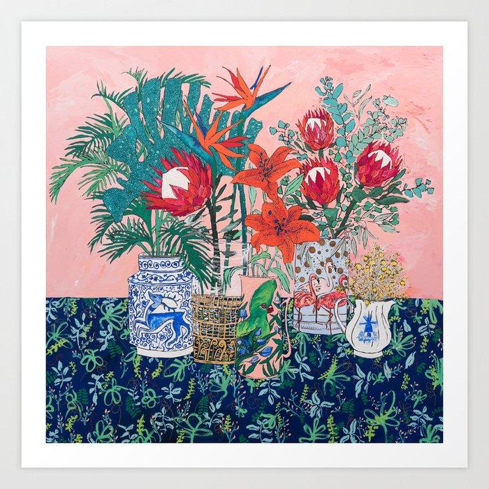 The Domesticated Jungle - Floral Still Life Kunstdrucke