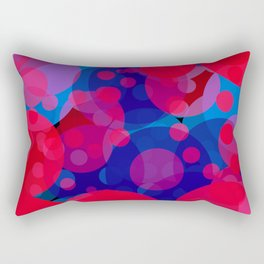 bubbles in red and blue Rectangular Pillow