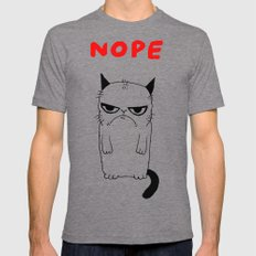 Gloomy cat NOPE Tri-Grey X-LARGE Mens Fitted Tee