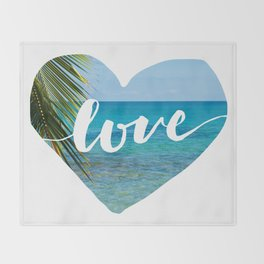 Gotta Love That View - Tropical Paradise Throw Blanket