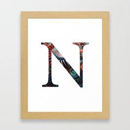 """Initial letter """"N"""" Framed Art Print"""