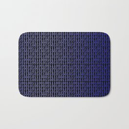 Binary Blue Bath Mat