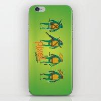 ninja turtles iPhone & iPod Skins featuring Ninja Turtles - Pixel Nostalgia by Boo! Studio