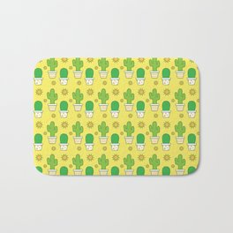 Desert Sun Cactus Pattern (Green/Yellow) Bath Mat