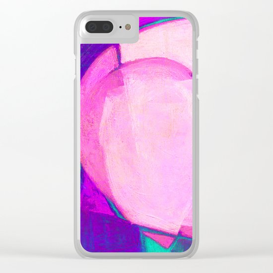 Pink Sunset Clear iPhone Case