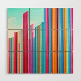 Colorful Rainbow Pipes Wood Wall Art
