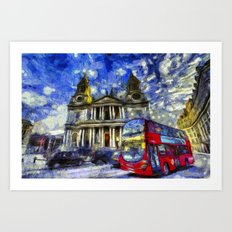 Vincent Van Gogh London Art Print