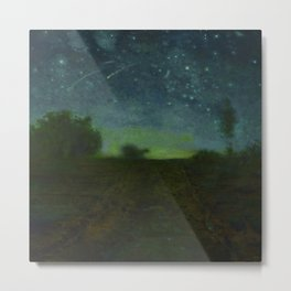 "Jean-François Millet ""Starry night"" Metal Print"