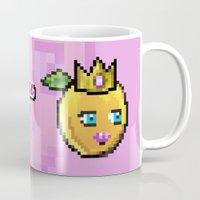 princess peach Mugs featuring Princess Peach by Sam Pea