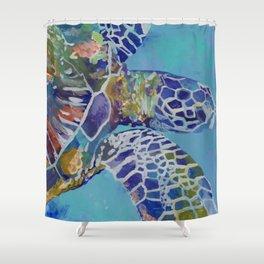Honu Kauai Sea Turtle Shower Curtain