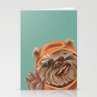 ewok Stationery Cards featuring Ewok by electricorn