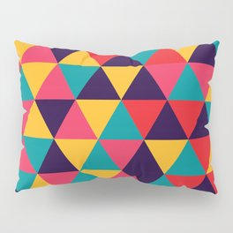 Colorful Triangles (Bright Colors) Pillow Sham