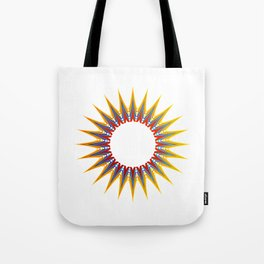 A large Colorful Christmas snowflake- holiday season gifts- Happy new year gifts Tote Bag