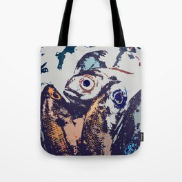 The fish. The water drives a wedge of iron through the iron edge of the cliff. Tote Bag