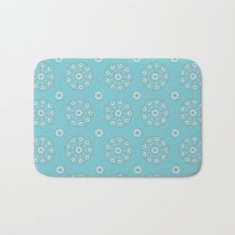 Robin's Egg Blue Sea Urchin - Mini Mandala Design Bath Mat