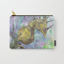 Seahorse Watercolor Carry-All Pouch