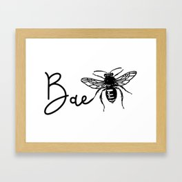 BAE Bee Baby Pun Love Framed Art Print