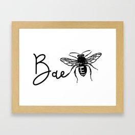 BAE Bee Baby Pun Love Framed Art Print
