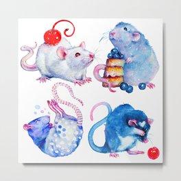 Sweet Rats Metal Print