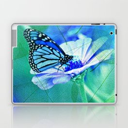 Butterfly, Flower And Leaves Laptop & iPad Skin