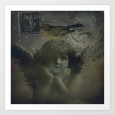 Angels watching over you Art Print