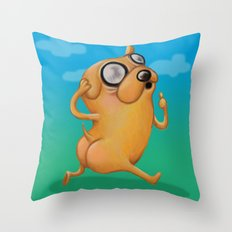 One  Magical Puppy Throw Pillow
