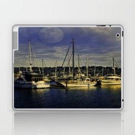 Newport Oregon Yaquina Bay - Sleeping Ships Laptop & iPad Skin