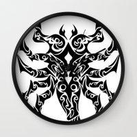 scorpio Wall Clocks featuring Scorpio by Mario Sayavedra
