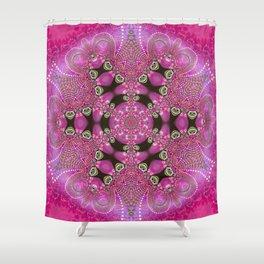 Pink Bohemian Shower Curtain