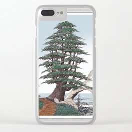 CEDAR OF LEBANON PEN AND PENCIL DRAWING Clear iPhone Case