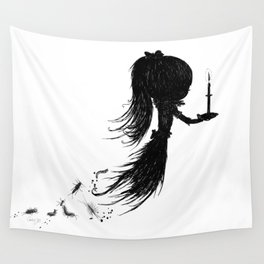 Little Soul and Candle by Carine-M Wall Tapestry