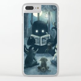 Reading Circle Clear iPhone Case