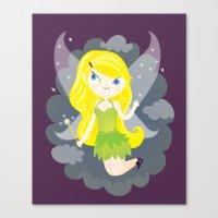 fairy Canvas Prints featuring Fairy by Maria Jose Da Luz