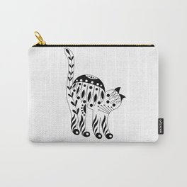 Patterned cat-4 Carry-All Pouch