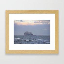 Cold waves Framed Art Print