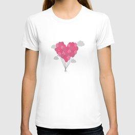 Balloons arranged as heart T-shirt