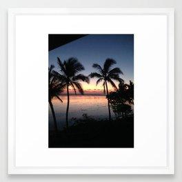 fiji sunset Framed Art Print