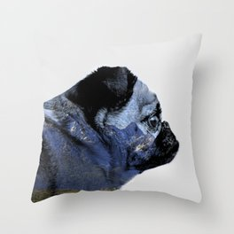 Thinking of Mountains Throw Pillow