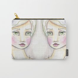 Dreamy Eyed Girl in Sherbert Carry-All Pouch