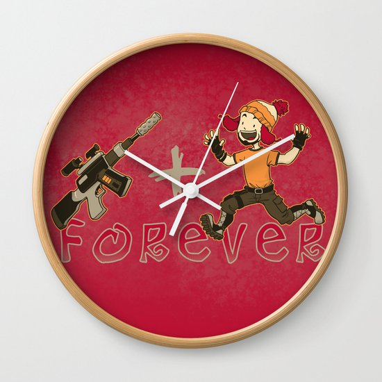 Jayne + Vera 4 Ever Wall Clock